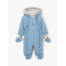 Buy John Lewis Baby Snowsuit, Dusky Blue Online at johnlewis.com
