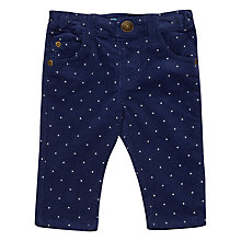 Buy John Lewis Baby Spot Corduroy Bottoms, Navy Online at johnlewis.com