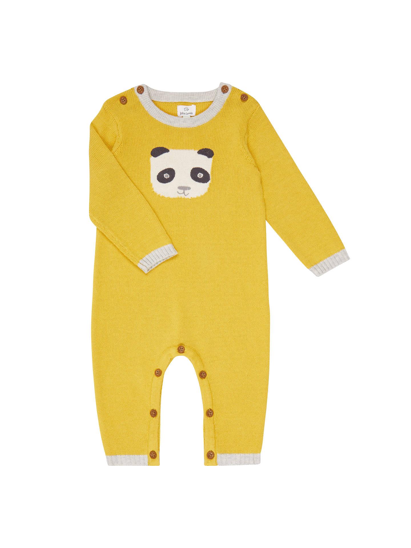 dac013fda John Lewis Baby Footless Knitted Panda Romper
