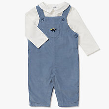 Buy John Lewis Baby Dinosaur Corduroy Dungaree and Top Set, Blue Online at johnlewis.com