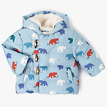 Buy John Lewis Baby Polar Bear Puffer Hooded Coat, Multi Online at johnlewis.com