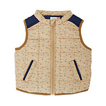 Buy John Lewis Baby Triangle Print Gilet, Natural Online at johnlewis.com