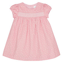 Buy John Lewis Cord Smock Dress, Pink Online at johnlewis.com