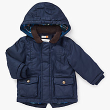 Buy John Lewis Baby Wax Jacket, Navy Online at johnlewis.com