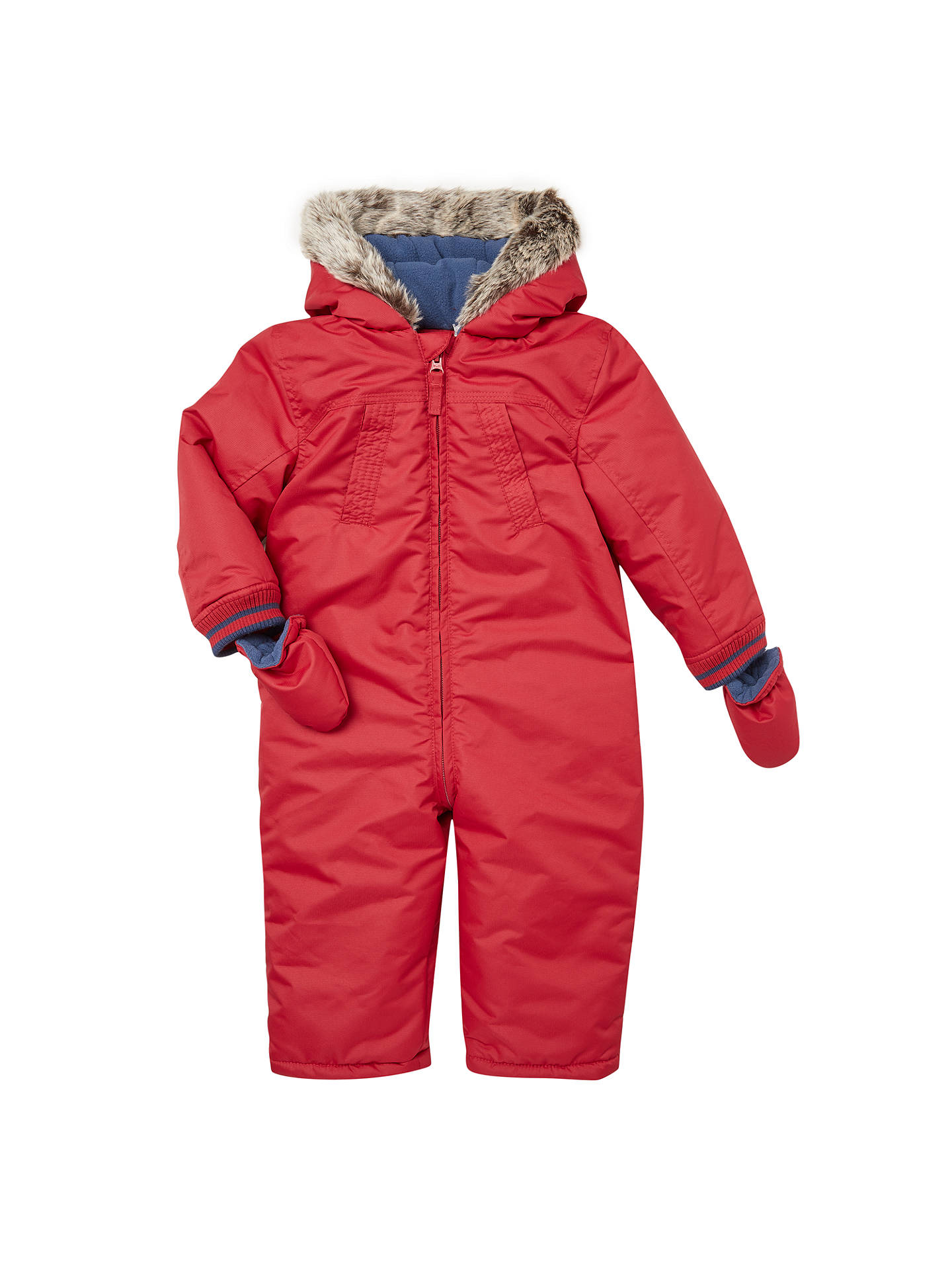 94a9807cf8e9 John Lewis Baby Faux Fur Hood Snowsuit