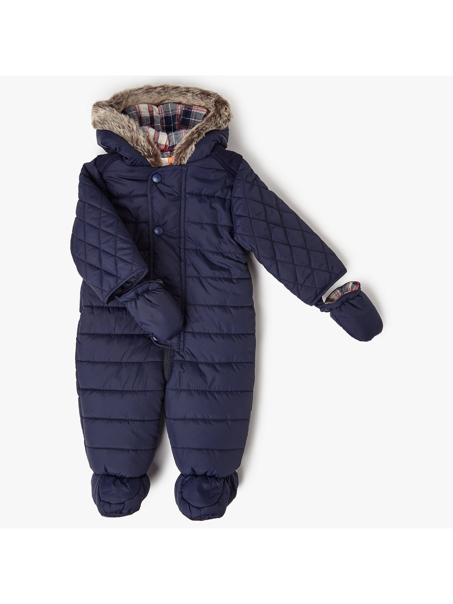 db98233fc John Lewis Baby Quilted Snowsuit
