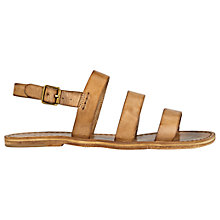Buy Jigsaw Kea Triple Strap Sandals, Tan Online at johnlewis.com