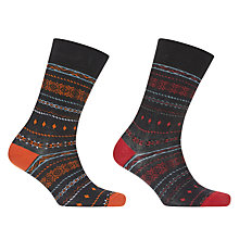 Buy John Lewis Bright Fairisle Socks, Pack of 2, Multi Online at johnlewis.com