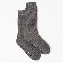 Buy John Lewis Lounge Socks, Grey Online at johnlewis.com