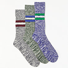 Buy John Lewis Slub Boot Socks, Pack of 3, Multi Online at johnlewis.com