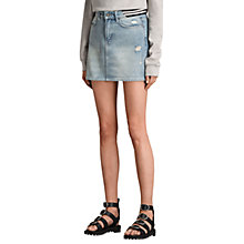 Buy AllSaints Denim Skirt, Light Indigo Blue Online at johnlewis.com