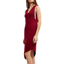 Buy Jaeger Asymmetric D-Ring Dress, Red/Pink Online at johnlewis.com