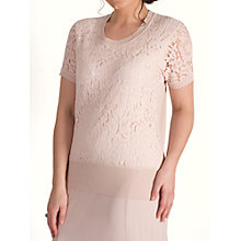Buy Chesca Corded Lace Trim Cami Jumper, Dark Blush Online at johnlewis.com