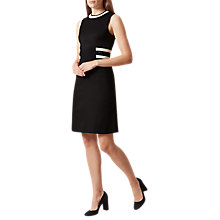 Buy Hobbs Jacquie Dress, Black/Ivory Online at johnlewis.com