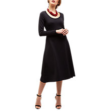 Buy Jaeger Jersey Round Neck Dress, Black Online at johnlewis.com
