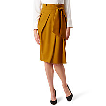 Buy Hobbs Louise Tie Detail Skirt, Ochre Online at johnlewis.com