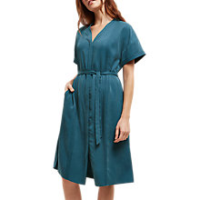 Buy Jaeger Pintuck Detail Oversized Dress, Mid Blue Online at johnlewis.com