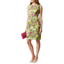 Buy Hobbs Fiona Floral Print Dress, Lemondrop Mul Online at johnlewis.com