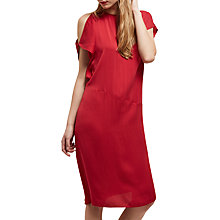 Buy Jaeger Off The Shoulder Crepe Dress, Bordeaux Online at johnlewis.com