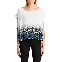Buy AllSaints Juba Pina T-Shirt, Chalk White Online at johnlewis.com
