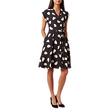 Buy Hobbs Alexia Dress, Black/Bone Online at johnlewis.com