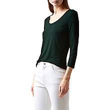 Buy Hobbs Daisy Top, Pine Green Online at johnlewis.com