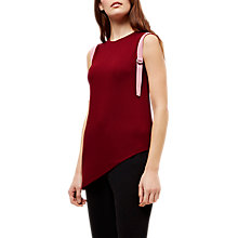 Buy Jaeger Jersey Asymmetric D-Ring Top, Red/Neutral Online at johnlewis.com