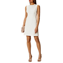 Buy Karen Millen Textured Fitted Dress, Ivory Online at johnlewis.com