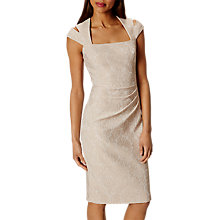 Buy Karen Millen Jacquard Pencil Dress, Champagne Online at johnlewis.com