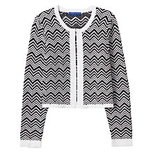 Buy Winser London Chevron Motif Cardigan, Black/White Online at johnlewis.com