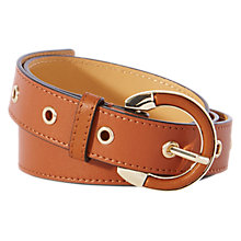 Buy Karen Millen Jeans Leather Belt, Tan Online at johnlewis.com