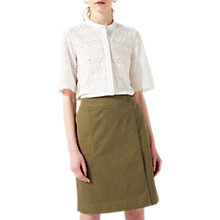 Buy Jigsaw Zip Detail Skirt, Golden Olive Online at johnlewis.com