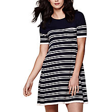 Buy Yumi Knitted Stripe Swing Dress, Dark Navy Online at johnlewis.com