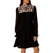 Buy Karen Millen Lace Yoke Dress, Black Online at johnlewis.com