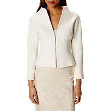 Buy Karen Millen Textured Tailored Jacket, Ivory Online at johnlewis.com
