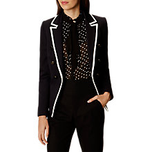 Buy Karen Millen Contrast Trim Jacket, Navy Online at johnlewis.com