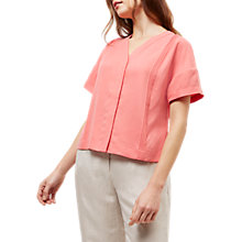 Buy Jaeger Pintuck Detail Top, Peach Online at johnlewis.com