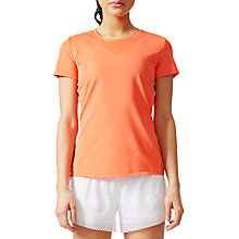 Buy adidas Slim Fit Feminine Women's T-Shirt, Coral Online at johnlewis.com