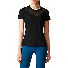 Buy Adidas Slim Fit Feminine Women's T-Shirt, Black Online at johnlewis.com