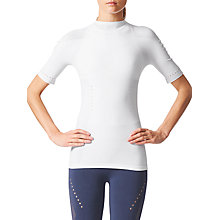 Buy Adidas Warp-Knit Training Top, White Online at johnlewis.com