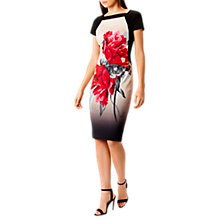 Buy Coast Katsura Floral Print Mina Shift Dress, Mono Online at johnlewis.com