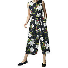 Buy Warehouse Magnolia Jumpsuit, Black/Multi Online at johnlewis.com