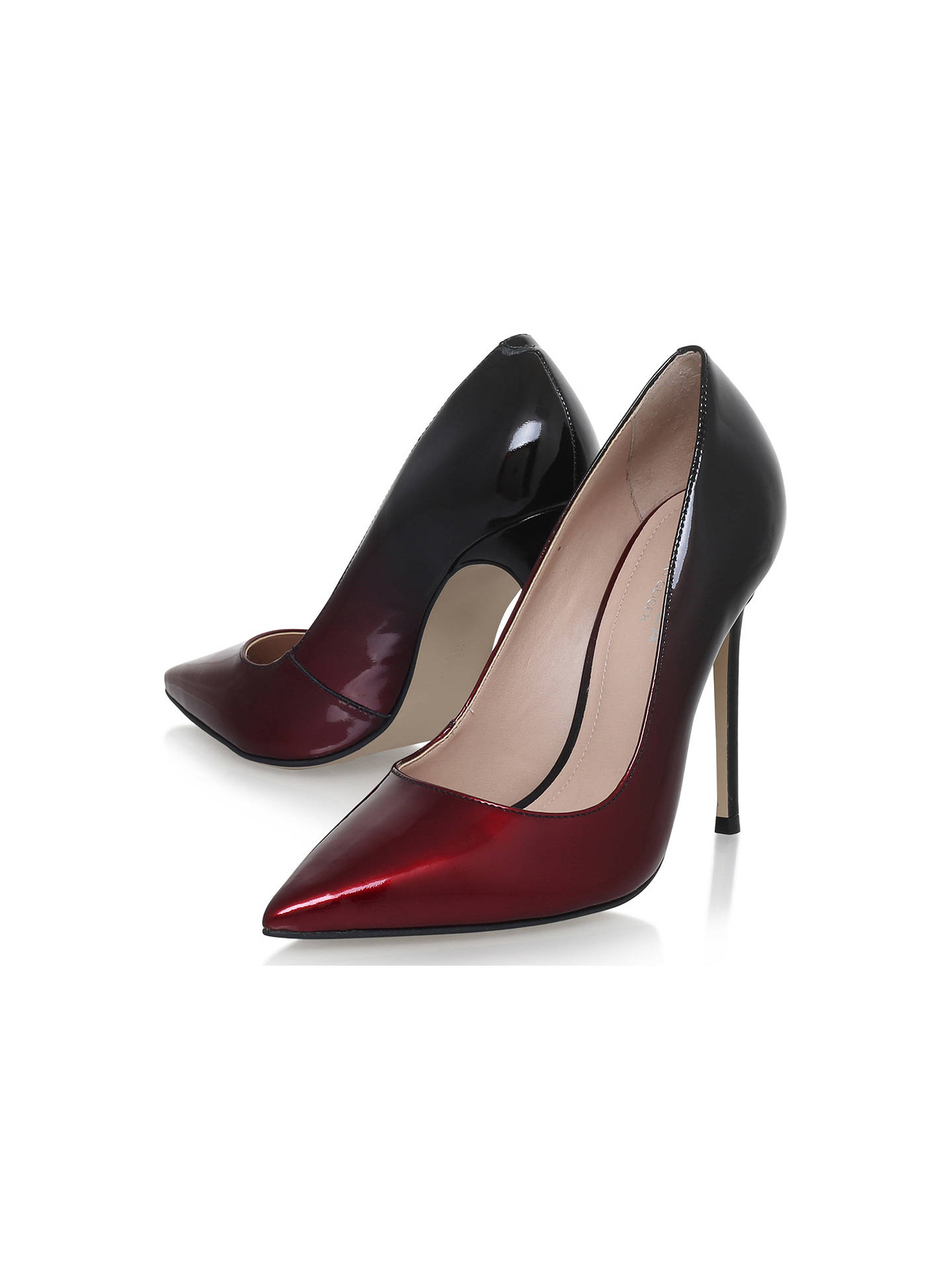 245151a0413 Carvela Alice Stiletto Heel Court Shoes, Wine Patent Leather