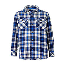 Buy John Lewis Boys' Melange Check Shirt, Blue Online at johnlewis.com