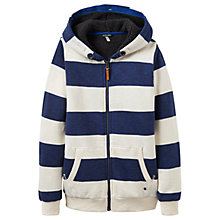 Buy Little Joule Boys' Guthrie Stripe Hoodie, Navy Online at johnlewis.com