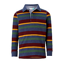 Buy John Lewis Boys' Lightweight Stripe Rugby Shirt, Multi Online at johnlewis.com