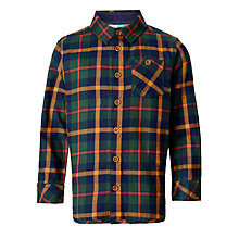 Buy John Lewis Boys' Double Navy Twill Check Shirt Online at johnlewis.com