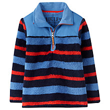 Buy Little Joule Boys' Woozle Half Zip Striped Fleece Top, Blue/Red Online at johnlewis.com