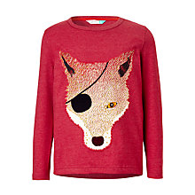 Buy John Lewis Boys' Eye Patch Fox Print T-Shirt, Red Online at johnlewis.com