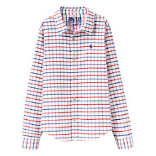 Buy Little Joule Boys' Atley Check Oxford Shirt, White/Red/Blue Online at johnlewis.com